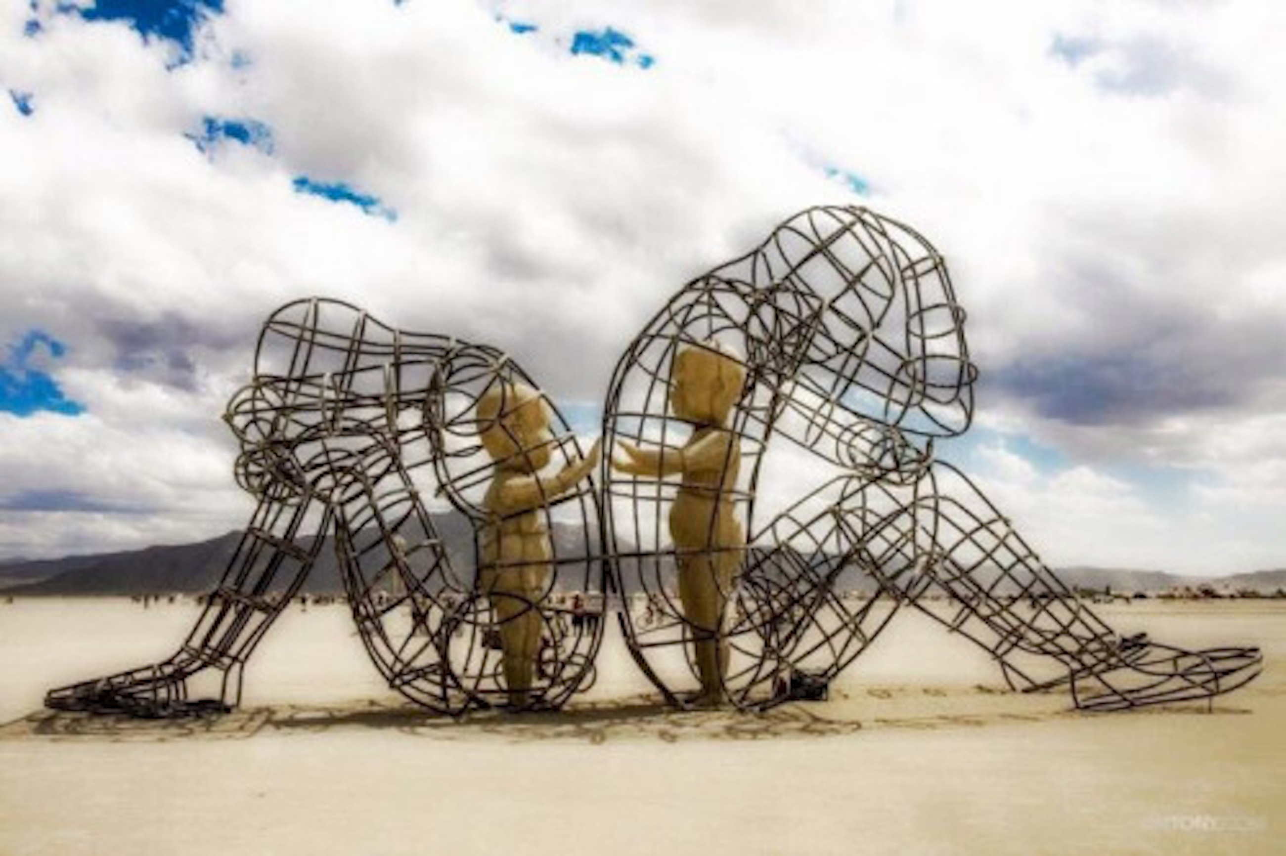 how to make a burning man sculpture